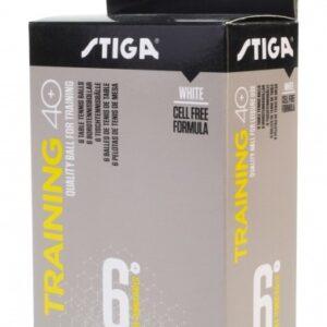 Μπαλάκια Πινγκ-Πονγκ Stiga Training ABS 40+ 6τμχ Λευκά