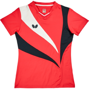 Butterfly Naomi Lady Table Tennis Shirt Coral