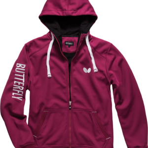 Butterfly Ninyo Table Tennis Hooded Jacket Berry