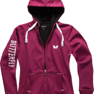 Butterfly Ninyo Lady Table Tennis Hooded Jacket Berry