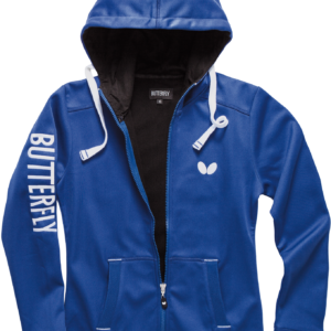 Butterfly Ninyo Lady Table Tennis Hooded Jacket Blue
