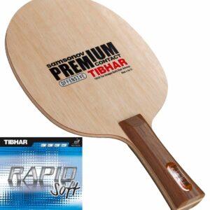 Ρακέτα Πινγκ-Πονγκ Tibhar Ξύλο Samsonov Premium Contact-Λάστιχα Rapid Soft