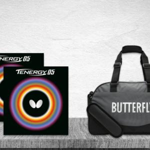 Προσφορά Ζευγάρι Λάστιχα Πινγκ-Πονγκ Butterfly Tenergy 05 2.1 με την Τσάντα Butterfly MidiBag Kaban