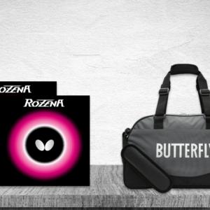 Προσφορά Ζευγάρι Λάστιχα Πινγκ-Πονγκ Butterfly Rozena 2.1 με την Τσάντα Butterfly MidiBag Kaban