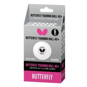 Μπαλάκια Πινγκ-Πονγκ Butterfly Training Ball 40+ 6τμχ Λευκά