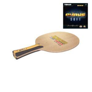 Ρακέτα Πινγκ-Πονγκ Tibhar Ξύλο Techno Power Contact - Λάστιχα AURUS Soft