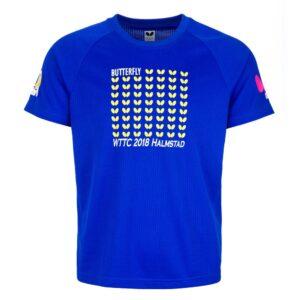Butterfly WTTC 2018 Table Tennis T-Shirt Blue