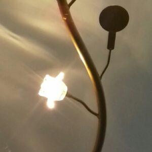 Φωτιστικό Δαπέδου Ρακέτες με Διάφανα Τριαντάφυλλα